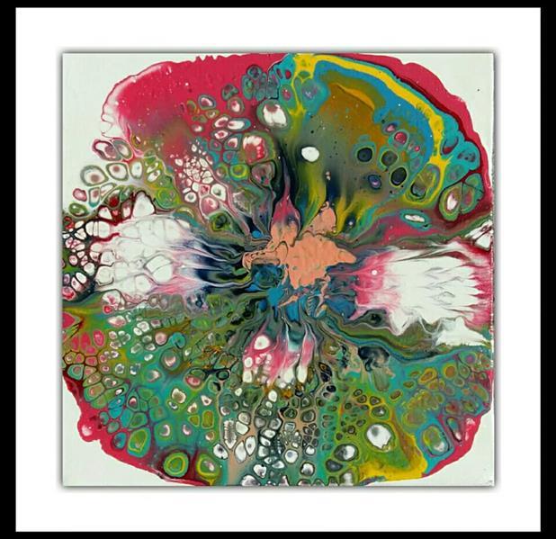هنر نقاشی و گرافیک محفل نقاشی و گرافیک پرسیس پناهی نام اثر: دهلیز4. #رنگ_اکریلیک بر روی بوم. ابعاد 20*20. تکنیک #آبستره_سلولی #فلویدآرت #پرسیس. بدون قاب