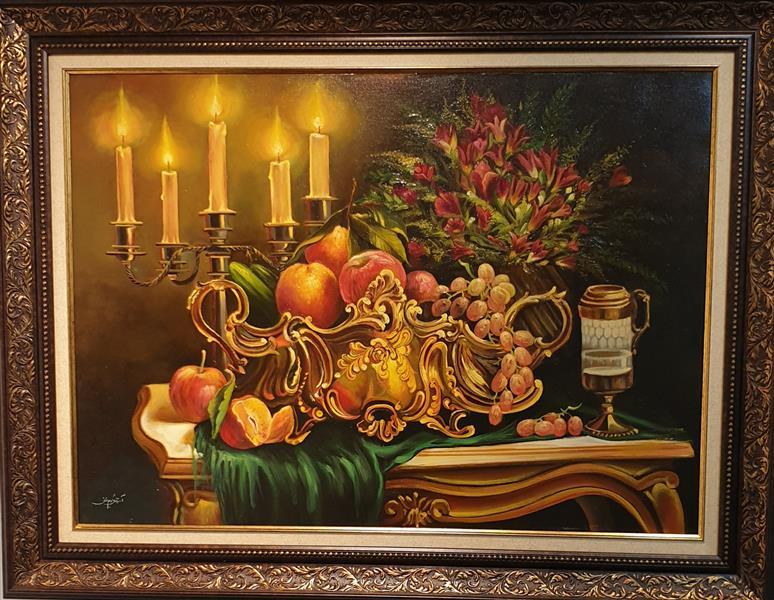 هنر نقاشی و گرافیک محفل نقاشی و گرافیک ارزو زندی کریم خانی رنگ روغن همراه با قاب#ارزو زندی کریم خانی#