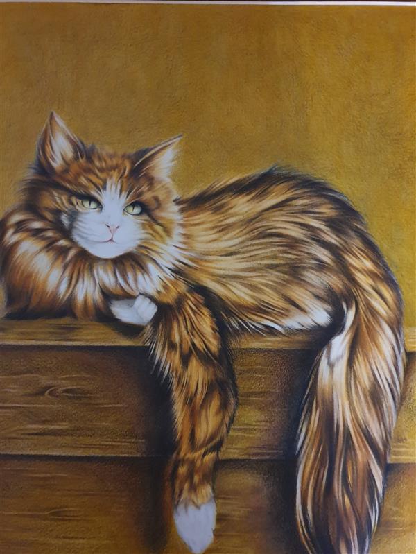 هنر نقاشی و گرافیک محفل نقاشی و گرافیک ارزو زندی کریم خانی مدادرنگی#۵۰*۵۰