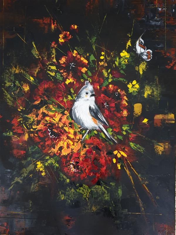 هنر نقاشی و گرافیک محفل نقاشی و گرافیک ارزو زندی کریم خانی رنگ روغن سایز ۳۰*۴۰ مکتب امپرسیونیسم