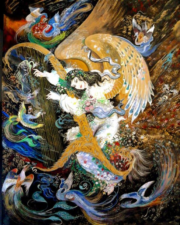 هنر نقاشی و گرافیک محفل نقاشی و گرافیک محمود وزیری این#تابلو#درابعاد# 70&50 با گواش#کار شده