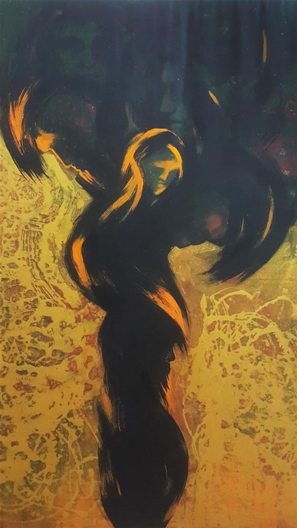 هنر نقاشی و گرافیک محفل نقاشی و گرافیک حسین وهابی درخت زندگی ۱۲۰×۱۸۰