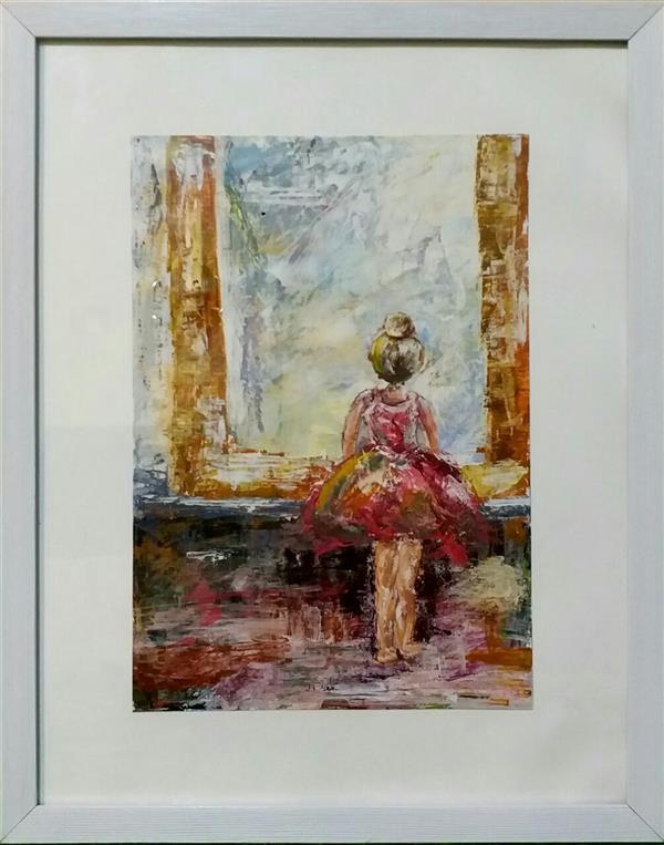 هنر نقاشی و گرافیک محفل نقاشی و گرافیک الهام قاسم پور نام اثر = دختری در آینه تکنیک = اکرلیک ابعاد = ۳۵ × ۵۰ #نقاشی کشیدن میتواند انسان را تا اوج آرامش بالا ببرد.