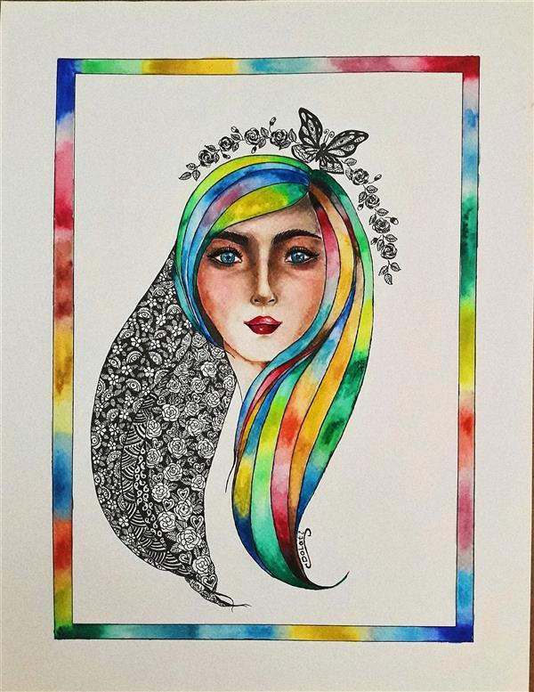 هنر نقاشی و گرافیک محفل نقاشی و گرافیک سمانه دولتی روح یک زن نام هنرمند : سمانه دولتی  Artist : samaneh Dolati