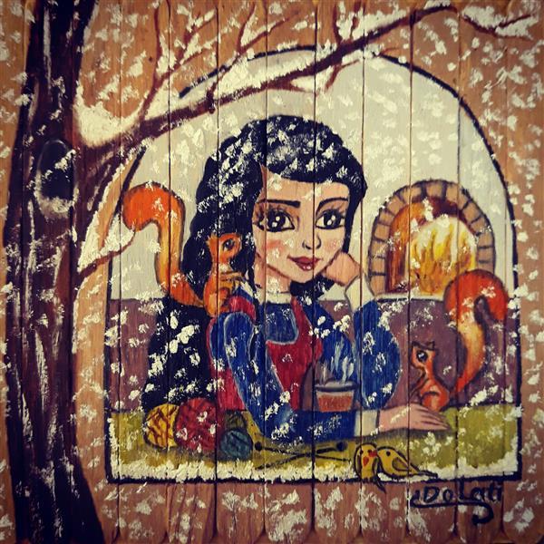 هنر نقاشی و گرافیک محفل نقاشی و گرافیک سمانه دولتی تصویرسازی : فصل زمستان هنرمند: سمانه دولتی  Artist  : samaneh Dolati  ID Telegram  : @sdolati2