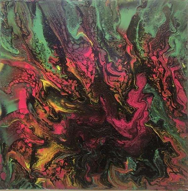 هنر نقاشی و گرافیک محفل نقاشی و گرافیک پرس آرت سبک آبستره،۳۰*۳۰،رنگ اکرلیک ،کار شده بر روی چوب،بدون قاب ،در صورت فروش با قاب تحویل داده خواهد شد