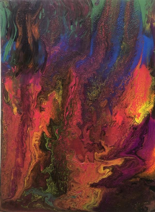 هنر نقاشی و گرافیک محفل نقاشی و گرافیک پرس آرت سبک آبستره۴۰*۳۰،رنگ اکرلیک،کار شده بر روی چوب،بدون قاب،در صورت فروش کارها با قاب تحویل داده خواهد شد