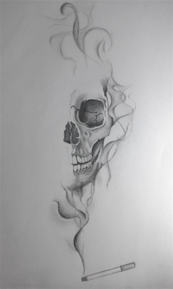 هنر نقاشی و گرافیک محفل نقاشی و گرافیک علیرضا زارع درد - ابعاد 19*27 #مداد #کاغذ #طراحی #سیگار