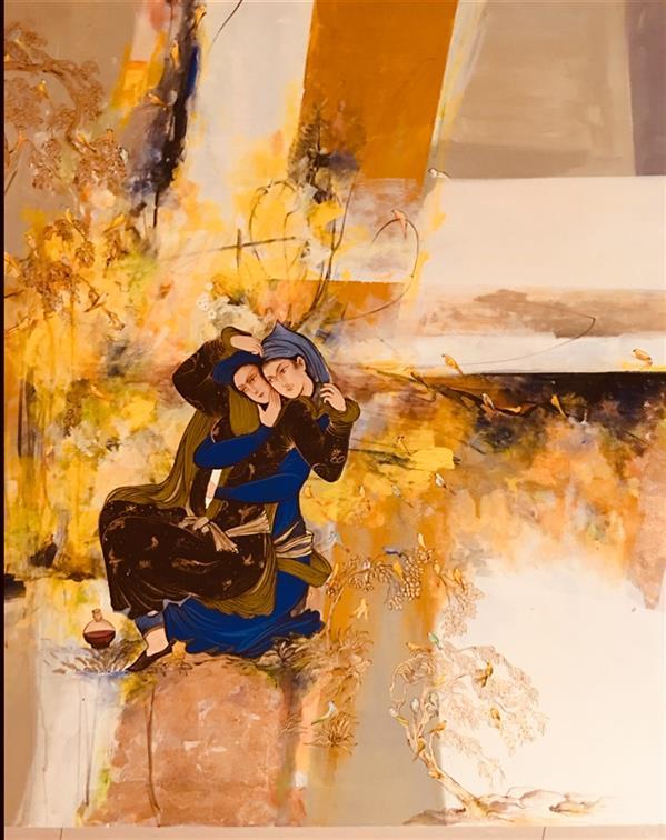 هنر نقاشی و گرافیک محفل نقاشی و گرافیک پروین حسین زاده تبریزى اکرلیک . ١٠٠&١٠٠ . مینیاتور ایرانى