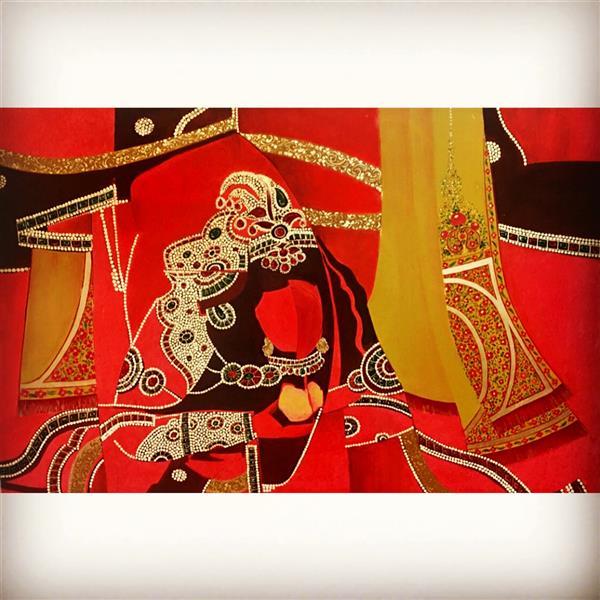 هنر نقاشی و گرافیک محفل نقاشی و گرافیک پروین حسین زاده تبریزى اكرليك .  ١٣٩٩  . انتزاعى   عنوان   :  غرفه سرخ .  پروين حسين زاده تبريزى