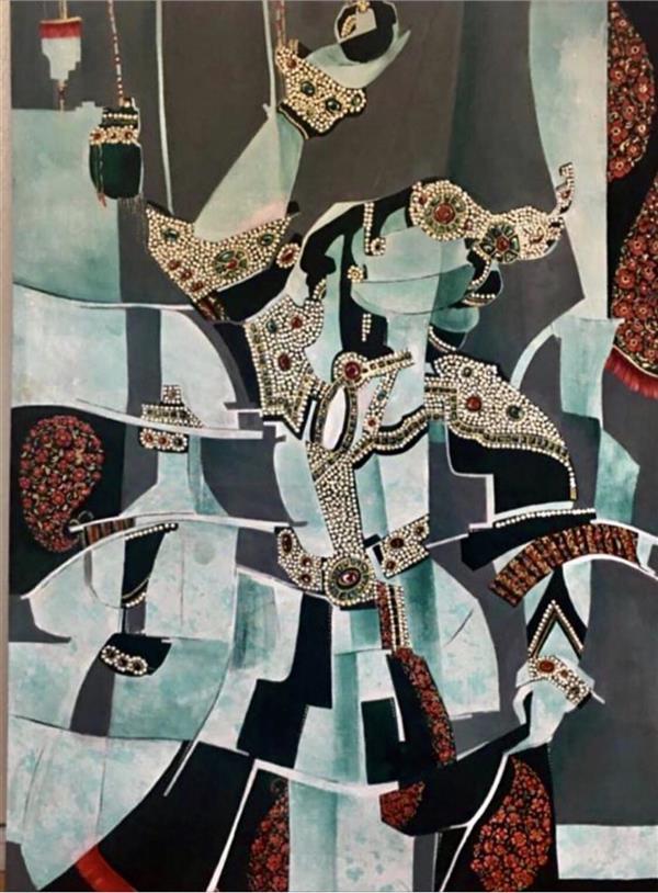 هنر نقاشی و گرافیک محفل نقاشی و گرافیک پروین حسین زاده تبریزى اكرليك . انتزاعى عنوان :   رقص در فلق ١٣٩٩ ،  پروين حسين زاده تبريزى