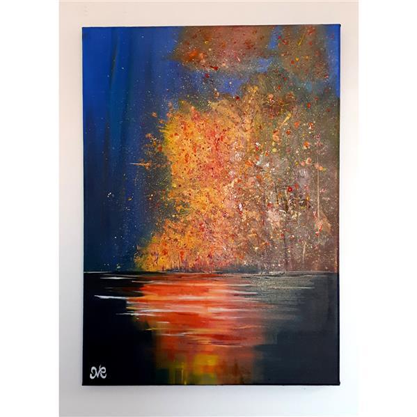 هنر نقاشی و گرافیک محفل نقاشی و گرافیک Mahdieh تابلو نقاشی رنگ روغن و اکرلیک با تکنیک مدرن در ابعاد ۵۰×۷۰ #مدرن #تابلو_مدرن #رنگ_روغن #مدرن_رنگ_روغن