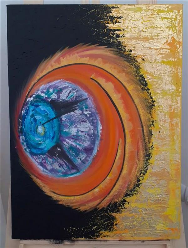 هنر نقاشی و گرافیک محفل نقاشی و گرافیک Mahdieh تابلو سبک مدرن  طرح ایده متریال: رنگ روغن، اکرلیک، ورقه طلا، ورقه نقره  #رنگ_روغن #مدرن #ورقه_طلا #تابلو_نقاشی #تابلو_مدرن