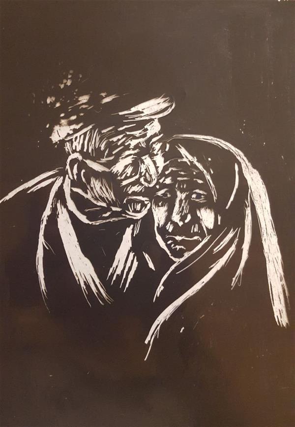 هنر نقاشی و گرافیک محفل نقاشی و گرافیک ایران طورانیان #اسکرچ برد روی طلق  اندازه A4 قیمت پانصد هزارتومان #اورجینال
