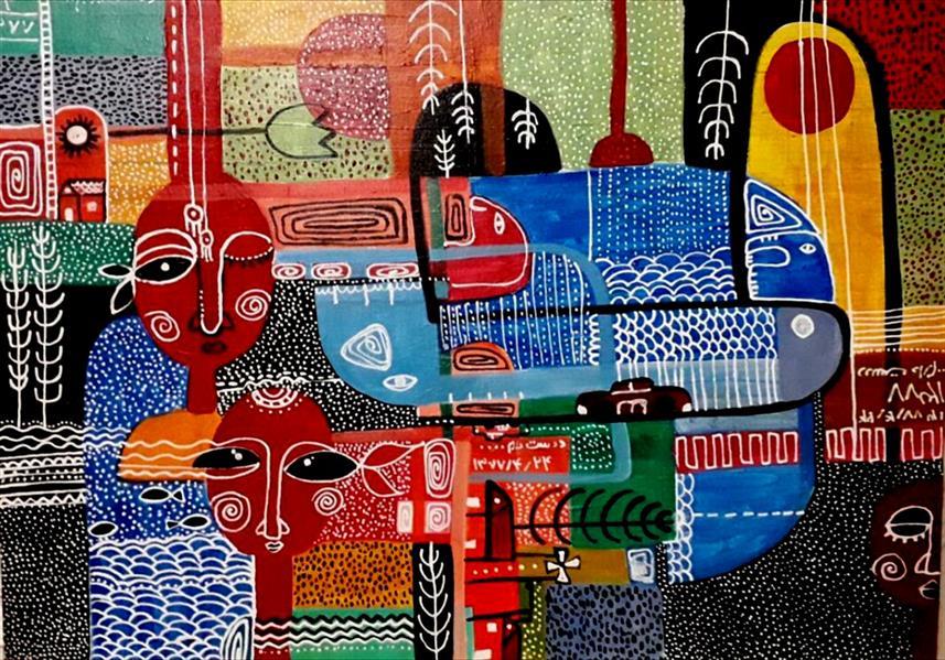 هنر نقاشی و گرافیک محفل نقاشی و گرافیک هدی اکبری این اثر بر گرفته از #ضمیر ناخودآگاه و توجه به الهامات کودک درون خودم می باشد .یادوآوری برای اینکه در درون هریک از ما یک کودک در حال زیستن است که احتیاج به توجه و رسیدگی دارد .  ابعاد:50-70 تکنیک: اکرلیک