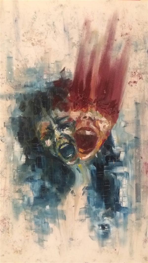 هنر نقاشی و گرافیک محفل نقاشی و گرافیک ارزو شیخی #تابلو #نقاشی #رنگ_و_روغن 60.80