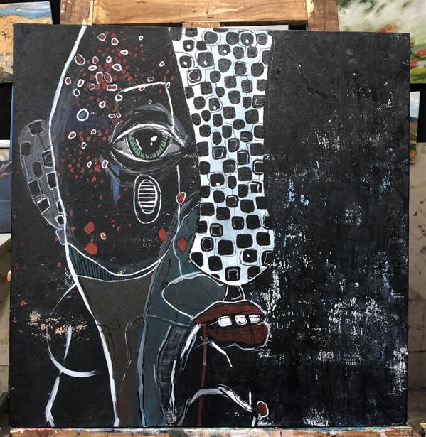 هنر نقاشی و گرافیک محفل نقاشی و گرافیک مرجان اسکندرزاده تنهایی #اکرلیک روی بوم ۶۰*۴۰