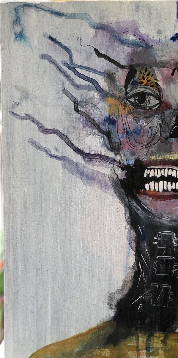 هنر نقاشی و گرافیک محفل نقاشی و گرافیک مرجان اسکندرزاده #اکرلیک روی بوم ۲۰*۴۰