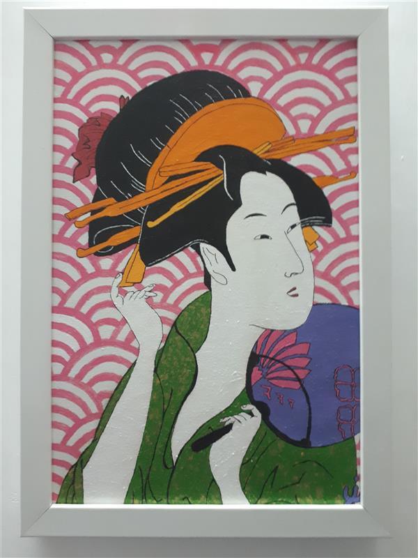 هنر نقاشی و گرافیک محفل نقاشی و گرافیک نرمین زرین آبادی #نقاشی #اکریلیک #مدرن #پاپ_آرت به سبک #ژاپنی