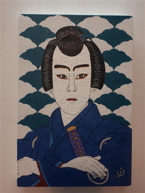 هنر نقاشی و گرافیک محفل نقاشی و گرافیک نرمین زرین آبادی #نقاشی #سامورایی #اکریلیک #مدرن #پاپ_آرت به سبک #ژاپنی