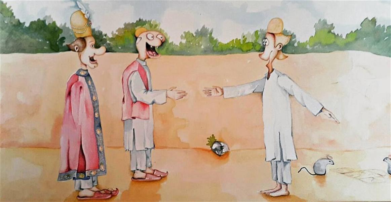 هنر نقاشی و گرافیک محفل نقاشی و گرافیک اکرم اصغریان تصویرسازی داستان بهلول #سایز: ۴۲×۲۱ (مقوا) #تکنیک: #آبرنگ