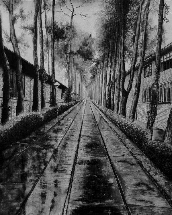 هنر نقاشی و گرافیک محفل نقاشی و گرافیک شیرین شیروانی #مداد #نقاشی  #سیاه_و_سفید #نقاشی_سیاه_و_سفید #طبیعت #نقاشی_طبیعت #شیرین_شیروانی_بروجنی