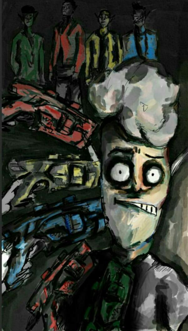 هنر نقاشی و گرافیک محفل نقاشی و گرافیک شیرین ارغشی نام اثر : پول من کو؟  نام کارکتر: مِلو ابعاد: ۲۰×۴۰