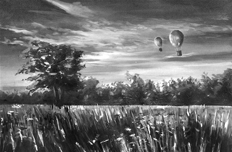 هنر نقاشی و گرافیک محفل نقاشی و گرافیک ایلتای سید نام اثر: در راه خانه متریال: رنگ روغن روی بوم ابعاد: 60*80 #Iltay_ili