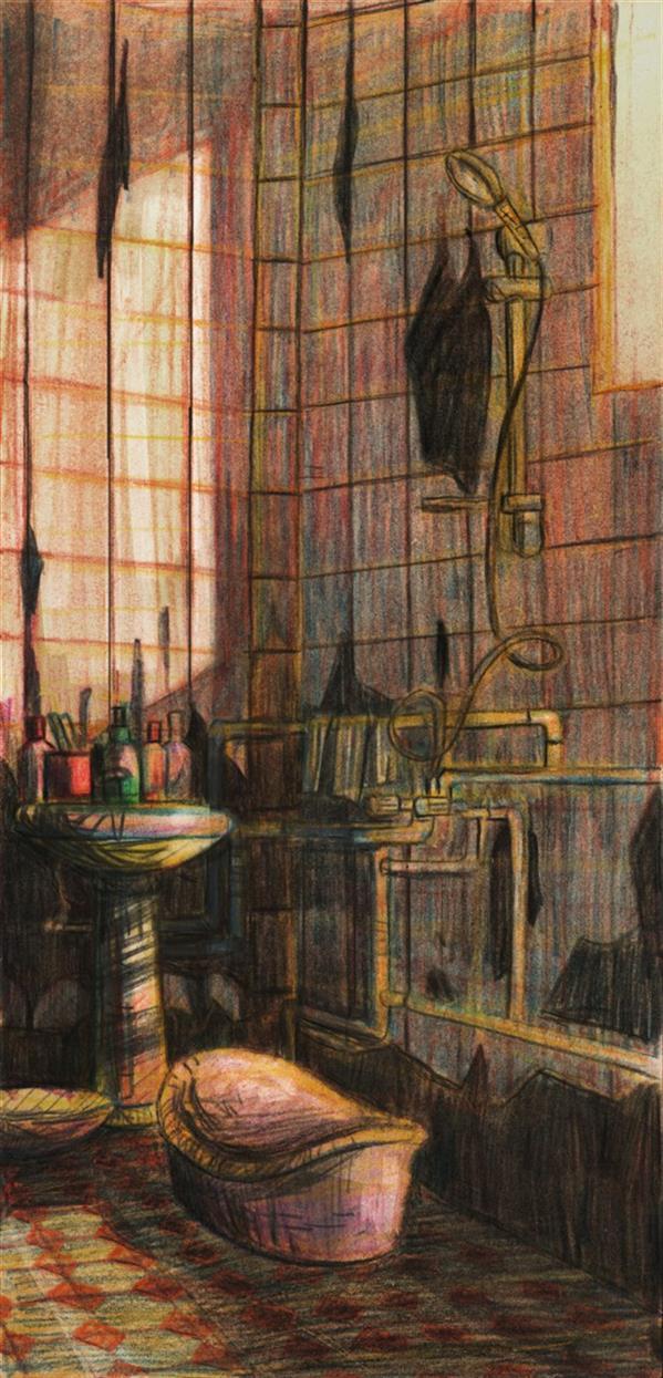 هنر نقاشی و گرافیک محفل نقاشی و گرافیک ایلتای سید عنوان:خانه پروا_3 ابعاد:35*17 مواد و متریال:مداد رنگی روی مقوا #iltay_ili #ایلتای_سید