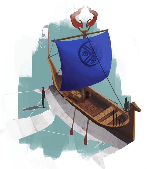هنر نقاشی و گرافیک محفل نقاشی و گرافیک ایلتای سید نام اثر:قایق کهن ابعاد:۳۲*۳۶ #دیجیتال#ایلتای_سید