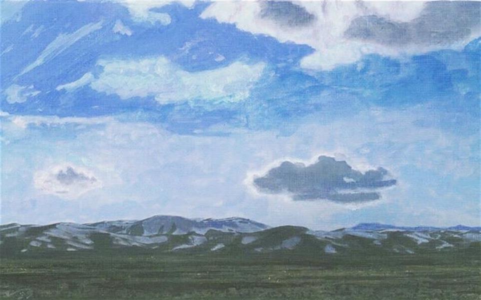 هنر نقاشی و گرافیک محفل نقاشی و گرافیک Negar moghimi طبیعت کوهها تکنیک:اکرولیک سایز باقاب سفید طرح کبریتی:30*40