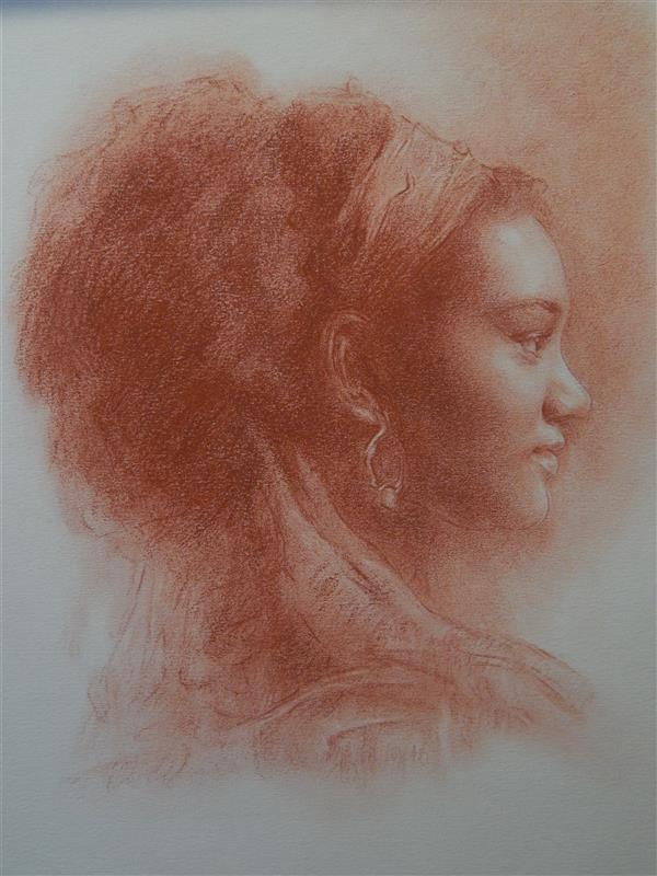 هنر نقاشی و گرافیک محفل نقاشی و گرافیک محبوبه آسا تکنیک پاستل روی مقوا #هنر #نقاشی #طراحی #پاستل #مداد #رنگ #چهره #پرتره #زن #مدادرنگی #نقاش