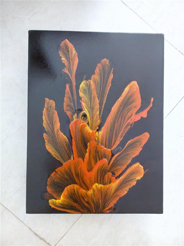 هنر نقاشی و گرافیک محفل نقاشی و گرافیک فریدون زرگری تکنیک استرینگ پول آرت#اکریلیک روی بوم ابعاد 40*30