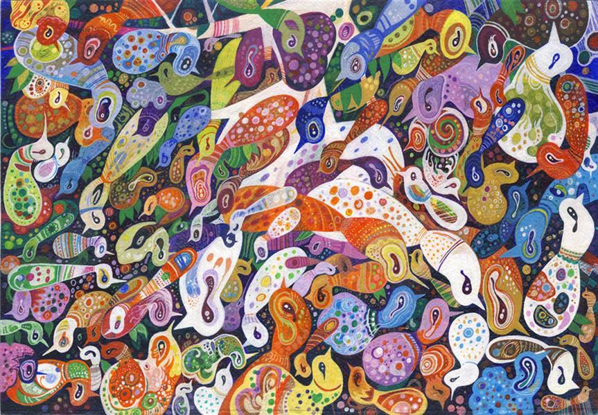 هنر نقاشی و گرافیک محفل نقاشی و گرافیک سید رسول میردامادی سایز: 50 *70  آکرلیک روی مقوا