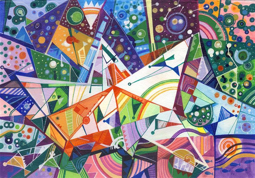 هنر نقاشی و گرافیک محفل نقاشی و گرافیک سید رسول میردامادی سایز: 50*60  آکرلیک روی مقوا