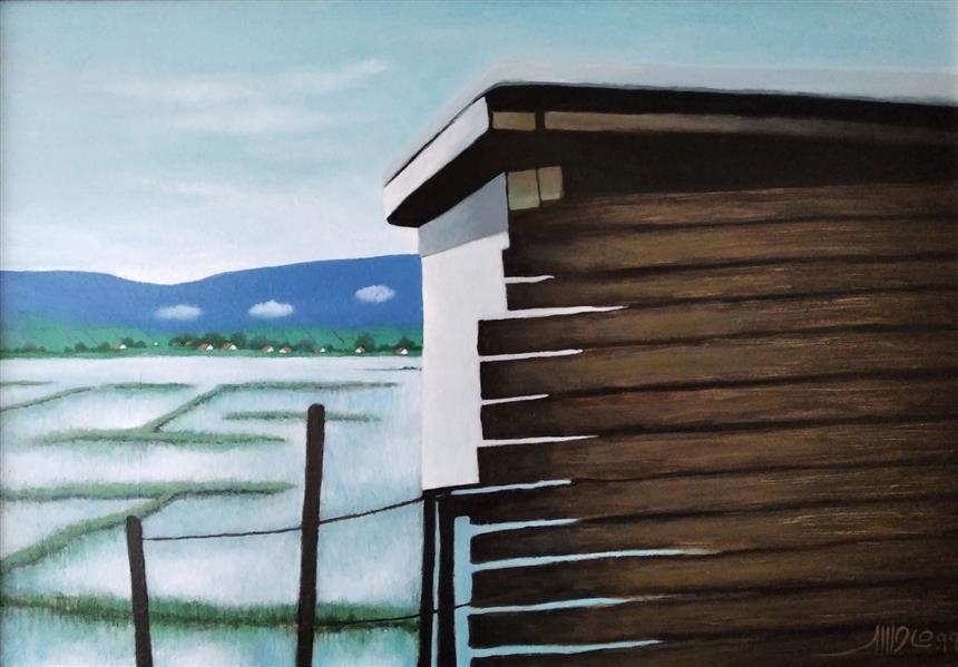 هنر نقاشی و گرافیک محفل نقاشی و گرافیک حمید شاطری اکرولیک روی بوم  اندازه : 50x70 با قاب