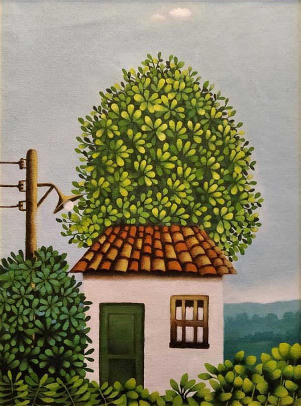 هنر نقاشی و گرافیک محفل نقاشی و گرافیک حمید شاطری اکرولیک روی پارچه بوم اندازه 32×44