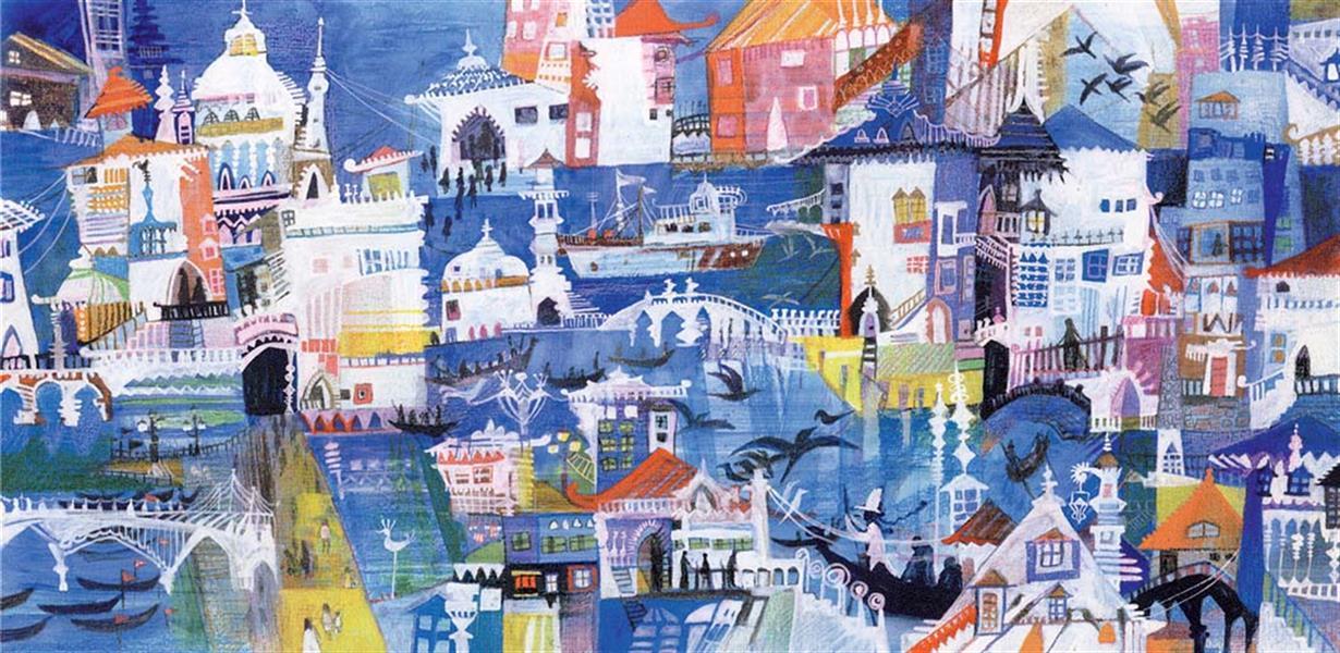 هنر نقاشی و گرافیک محفل نقاشی و گرافیک سمیه صالح شوشتری کسب رتبه سوم منظره سازی از شهر ونیز در جشنواره تصویرگری تتریو ایتالیا 2008