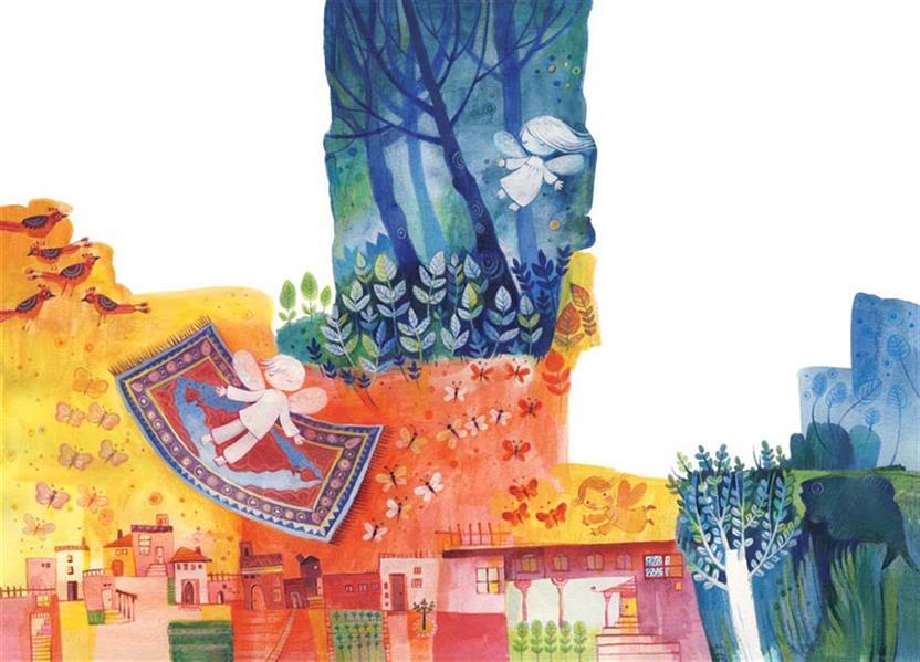 هنر نقاشی و گرافیک محفل نقاشی و گرافیک سمیه صالح شوشتری قالیچه سلیمون