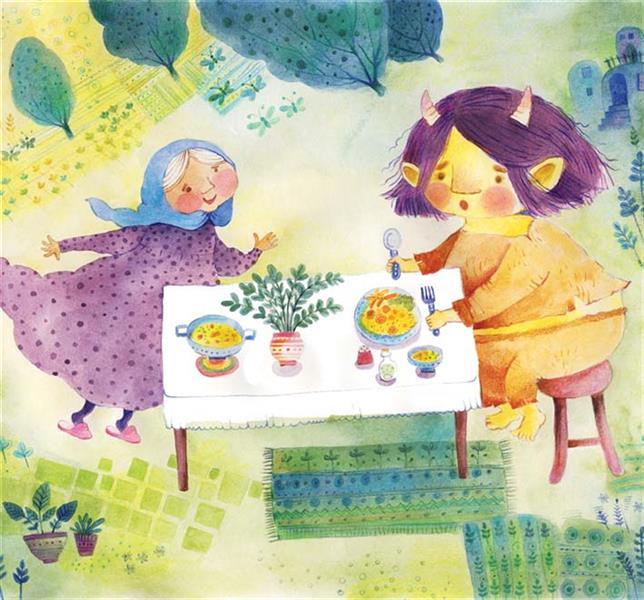 هنر نقاشی و گرافیک محفل نقاشی و گرافیک سمیه صالح شوشتری خاله پیرزن دوست داشت قصه بگوید