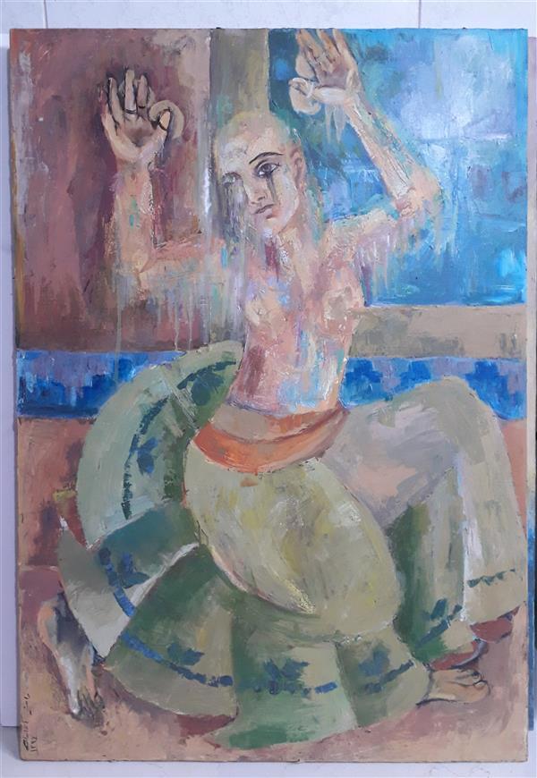 هنر نقاشی و گرافیک محفل نقاشی و گرافیک راضیه آقاجانی # اکسپرسیونیس #Expressionism #اکریلیک #رقص #Dance