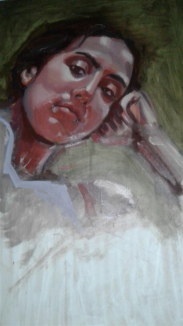 هنر نقاشی و گرافیک محفل نقاشی و گرافیک صبا یوسف زاده  نقاشی مدل زنده رنگ_روغن