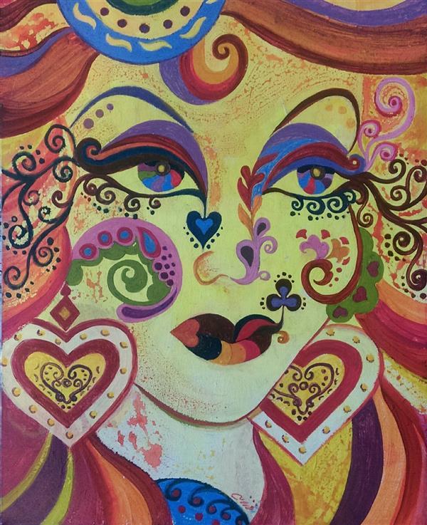 هنر نقاشی و گرافیک محفل نقاشی و گرافیک فرزانه نوحی پاییز #اکریلیک روی بوم #نقاشی_مدرن