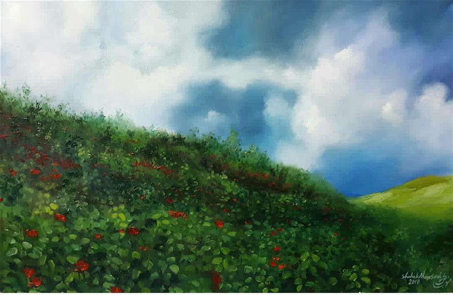 هنر نقاشی و گرافیک محفل نقاشی و گرافیک شهاب موسوی #طبیعت#سرسبز#سردشت#نقاشی#رنگ و روغن#هنر#هنرمند#فروش تابلو