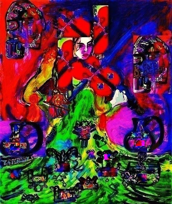 هنر نقاشی و گرافیک محفل نقاشی و گرافیک delaram ardalan عنوان اثر : ویولن قرمز دلارام اردلان