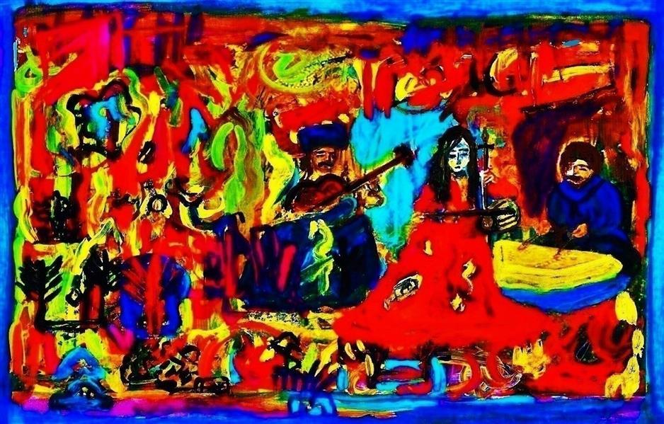 هنر نقاشی و گرافیک محفل نقاشی و گرافیک delaram ardalan عنوان اثر : سه نوازنده دلارام اردلان