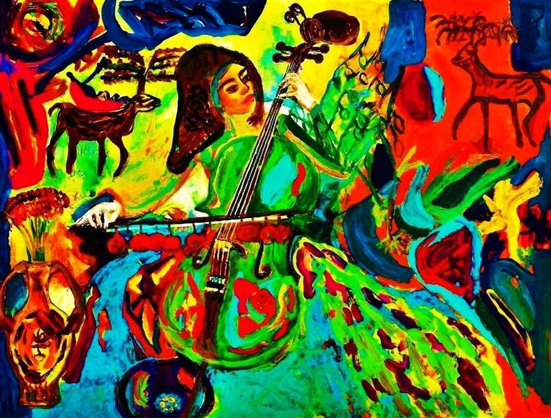 هنر نقاشی و گرافیک محفل نقاشی و گرافیک delaram ardalan عنوان اثر : ویولنسل دلارام اردلان
