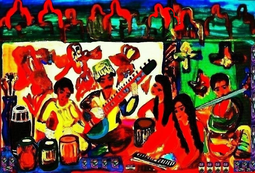 هنر نقاشی و گرافیک محفل نقاشی و گرافیک delaram ardalan نوازندگان