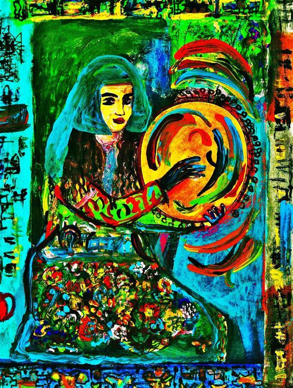 هنر نقاشی و گرافیک محفل نقاشی و گرافیک delaram ardalan دوست دف نواز