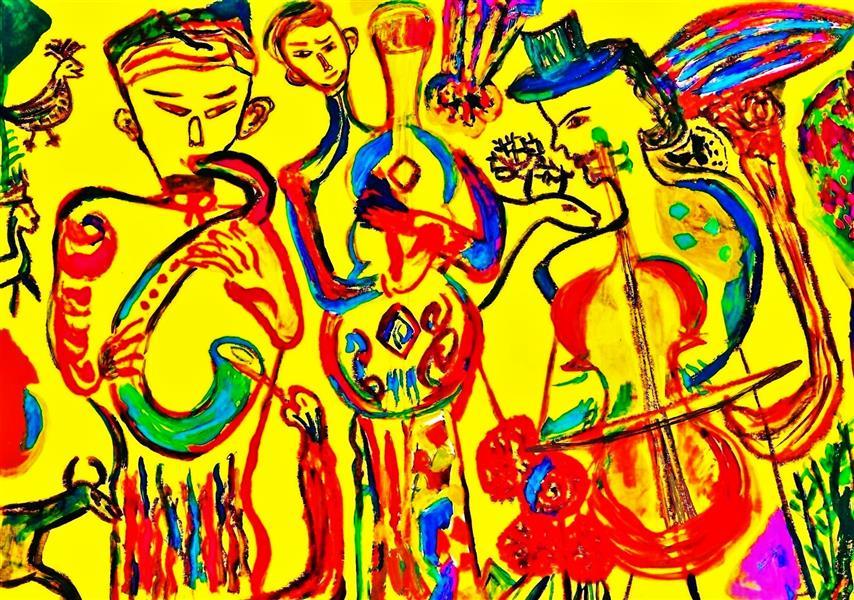 هنر نقاشی و گرافیک محفل نقاشی و گرافیک delaram ardalan سه نوازنده